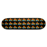 Burning Fish Skate Board/Black