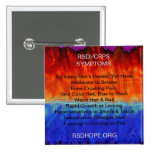 Burning Flames & Freezing Ice Storms RSD SYMPTOMS Pinback Buttons