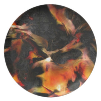 Burning Flames Plate