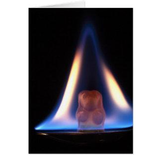 Burning Gummi Bear Greeting Card
