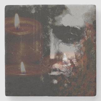 Burning Head Marble Coaster