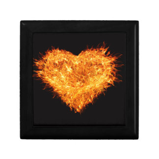 Burning heart gift box