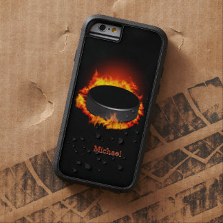 Burning Hockey Puck Tough Xtreme iPhone 6 Case
