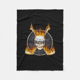 Burning Hockey Sticks Fleece Blanket