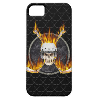Burning Hockey Sticks iPhone 5 case