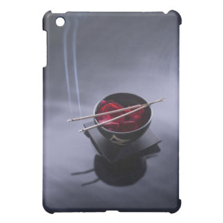 Burning incense on top of bowl of petals iPad mini cover