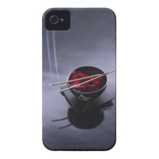 Burning incense on top of bowl of petals iPhone 4 Case-Mate case
