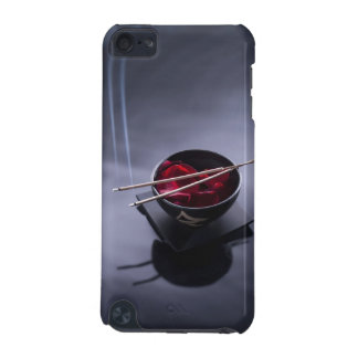 Burning incense on top of bowl of petals iPod touch (5th generation) case