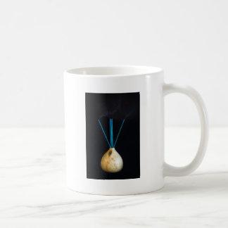 Burning Incense Pot Smoking New Age Spiritual Basic White Mug
