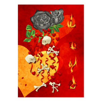 Burning Love Fire Large Business Cards (Pack Of 100)