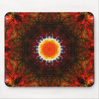 Burning Nature Mandala Mouse Mat