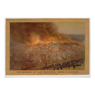 Burning of San Francisco April 18-20, 1906 (1596A) Poster