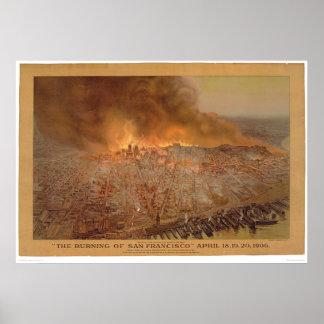Burning of San Francisco April 18-20, 1906 (1596A) Poster