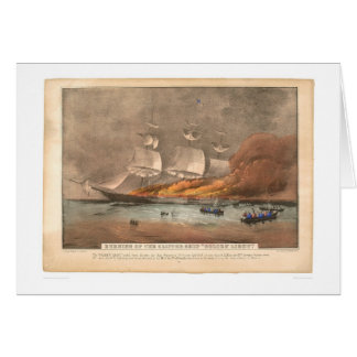 "Burning of the clipper ship ""Golden Light"" (0143A) Greeting Card"