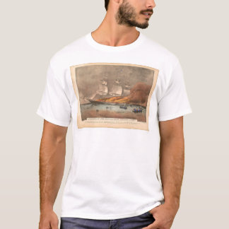 "Burning of the clipper ship ""Golden Light"" (0143A) T-Shirt"