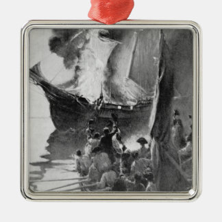 Burning of the Gaspee Christmas Ornament