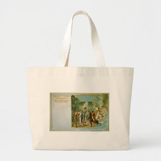 Burning of the Stamp Act in Boston Massachusetts Canvas Bag