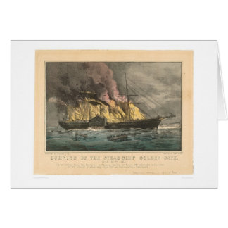 Burning of the Steamship Golden Gate (0144A) Greeting Card