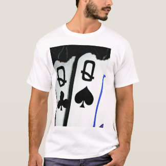 Burning Pocket Queens Hot Ladies Poker Art T-Shirt