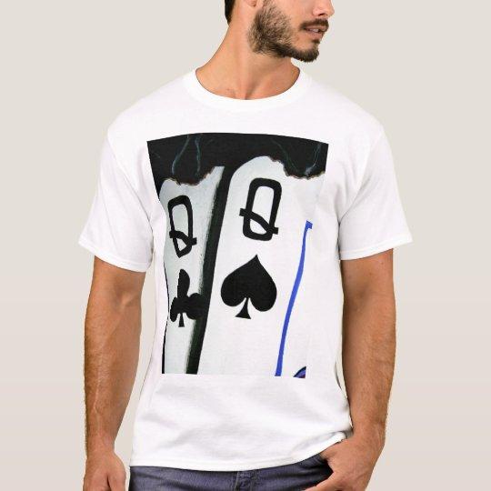 Burning Pocket Queens Hot Ladies Poker Art T-Shirt