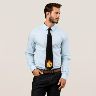 Burning Poker Cards (1 side) Tie