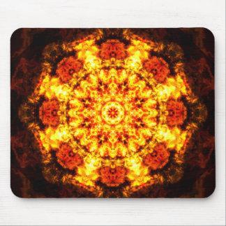 Burning Reality Mandala Mouse Mat