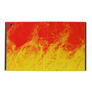 Burning red and yellow fire iPad cover