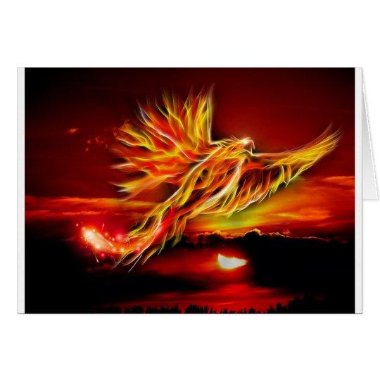 Burning Red Flying Phoenix Garden of Tarot Card