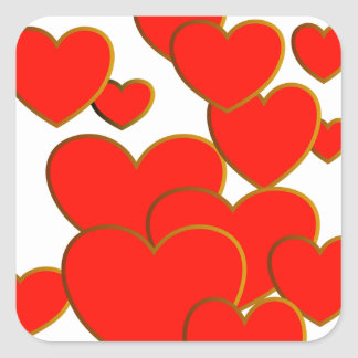 Burning Red Sweetheart Sticker
