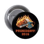 Burning Sanders 6 Cm Round Badge