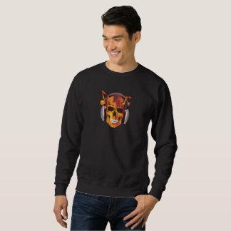 Burning Skull Sweat Shirt