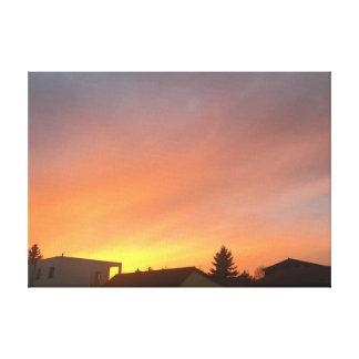 """Burning sky "" Canvas Print"