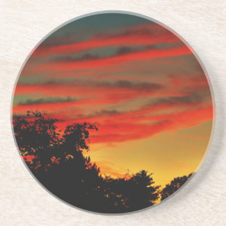 Burning Sky Drink Coasters