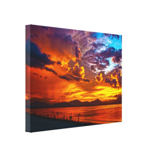 Burning Sky Stretched Canvas Canvas Print