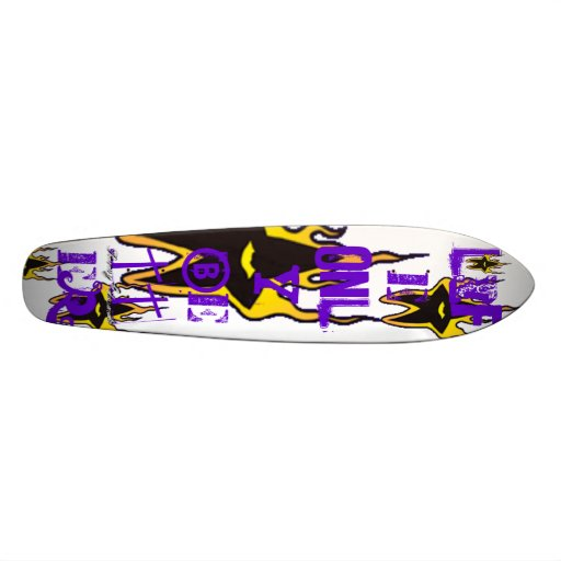Burning Star Old School Cruiser Skate Board Deck