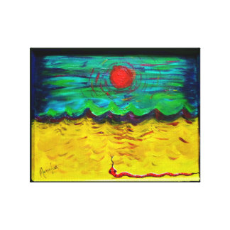 Burning Sun, Desert Snake Canvas Print
