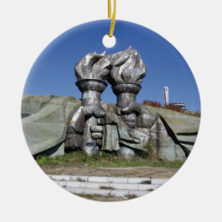 Burning torch sculpture Buzludzha monument Christmas Ornament