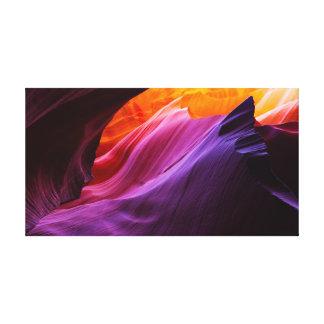 Burning Twilight - Antelope Canyon Rock Formations Canvas Print