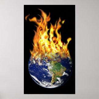 "Burning World 20""x11,5"", Value Poster Paper(Matte)"