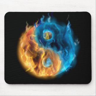 Burning Yin Yang Mouse Pad
