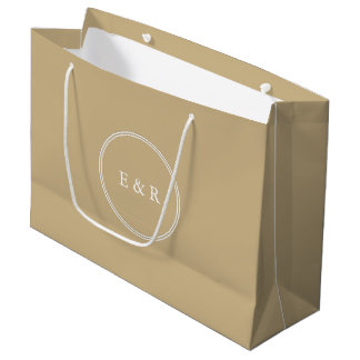 Burnished Matte Gold Wedding Large Gift Bag