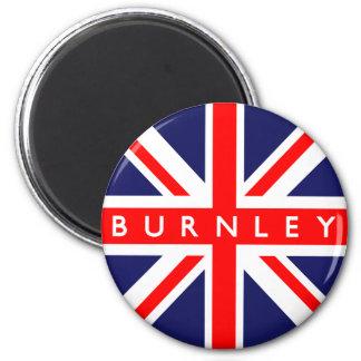 Burnley UK Flag 6 Cm Round Magnet