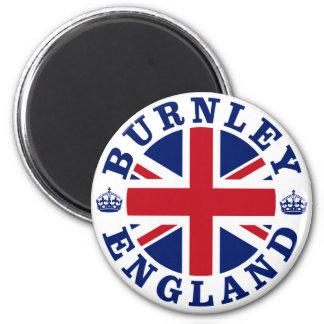 Burnley Vintage UK Design 6 Cm Round Magnet