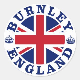 Burnley Vintage UK Design Classic Round Sticker