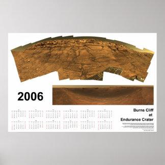 Burns Cliff at Endurance Crater Poster