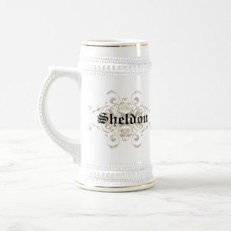 Burns Coat of arms-Personalize with Your name 18 Oz Beer Stein