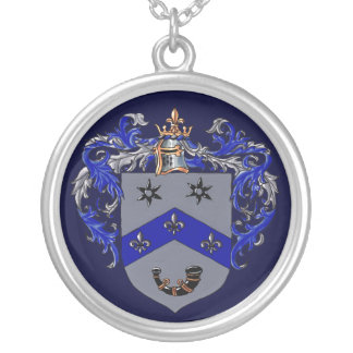 Burns Coat of arms Silver Plated Necklace