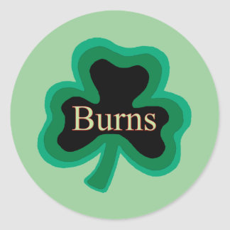 Burns Family Round Sticker