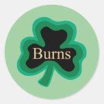 Burns Family Round Stickers
