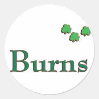 Burns Irish Stickers Round Sticker